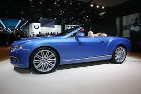 bentley convertible blue 202mph bentley continental gtc speed makes its world debut in detroit