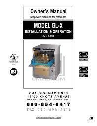 Cma 180 Dishwasher Manual Download Free Pdf For Cma Cma Gl X Dishwasher Manual