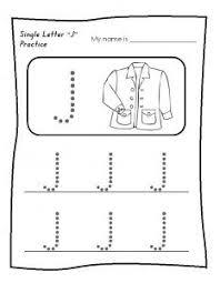 write the letter j for preschool alphabet letter j worksheets
