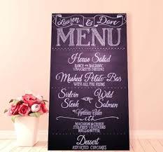 Chalkboard Wedding Program Custom Hand Lettered Chalkboard Wedding Sign Menu Or Program By