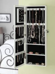 Large Jewelry Armoire Wall Mounted Mirror Jewelry Armoire 5 Enchanting Ideas With