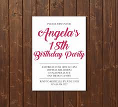 18th Birthday Invitation Card 18th Birthday Invitation Printable Pink U0026 White Birthday