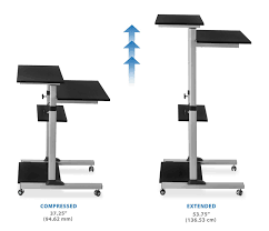 L Shaped Desk Dimensions by Amazon Com Mount It Mobile Stand Up Desk Height Adjustable