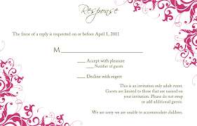What Does Rsvp Stand For On Invitation Cards Example Rsvp Card Response For Wedding Invitation Cards Rsvp