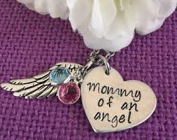 Baby Remembrance Jewelry Angel Baby Memorial Baby Heartbeat Art Miscarriage Memorial