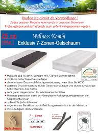 K Hen Sofort Kaufen 25 Cm Wellness Exklusiv 7 Zonen Gelschaum Matratze Größe