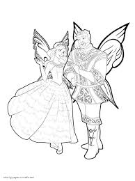 mariposa and the fairy princess coloring pages for girls