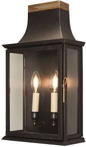 Lantern Wall Sconce Patrice Colonial Electric Copper Lantern Wall Sconce