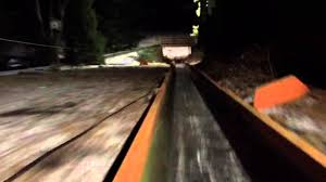 skytop lodge toboggan ice chute youtube