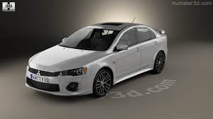 mitsubishi lancer 2016 360 view of mitsubishi lancer gt 2016 3d model hum3d store