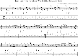 Grandfather Clock Song Sheet Music Score Chords And Mandolin Tabs For Tam Lin The