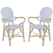 Stackable Wicker Patio Chairs Amazon Com Safavieh Home Collection Hooper Blue U0026 White Indoor