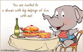 a dinner invitation for your friend free entertaining