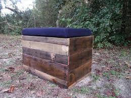 Wood Storage Ottoman Diy Pallet Wood Storage Ottoman Pallet Furniture Plans