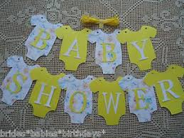 unisex baby shower 10 bunting flags banners garland baby shower yellow unisex diy