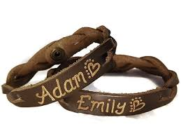 his and hers engraved bracelets engraved couples braided bracelets his and hers jewelry
