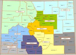 Dolores Colorado Map by Colorado Section Ares Regions And Districts Colorado Ares
