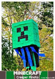 minecraft pinata how to make a diy minecraft creeper pinata crafty in me