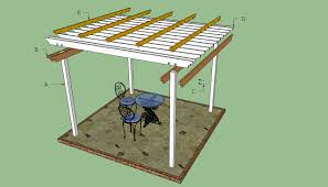 Easy Pergola Ideas by Exterior Design White Pergola Plans On Brown Floor For Patio Ideas