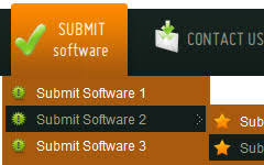 horizontal drop down menu html web menu how to