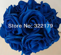 wedding flowers royal blue artificial flowers royal blue roses for bridal bouquet wedding