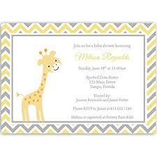 giraffe baby shower invitations chevron stripes