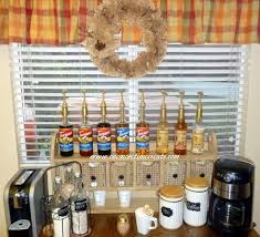 organizing coffee station makeover