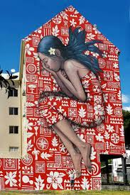 590 best street art images on pinterest urban art street art a new postal stamp in french polynesia highlights a mural at the ono u festival in tahiti a first for the multi island country as well as the french