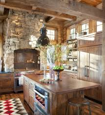 cabin kitchen design warm cozy rustic kitchen designs for your
