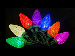 set of 25 multi led retro style c9 christmas lights green wire