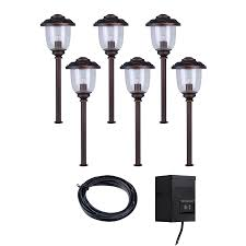 shop portfolio bronze path light kit at lowes