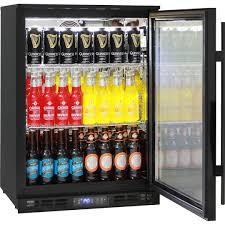 glass door commercial bar fridge with lg compressor