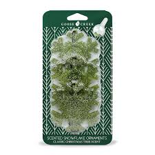classic tree scented snowflake ornament goose creek