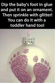 Christmas Decorations Using Glitter by Best 25 Baby Christmas Crafts Ideas On Pinterest Christmas