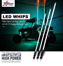 led light whip for atv led lights
