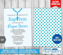 Invitation Card For Christening Free Download Boy Christening Invitation Template 6 By Templatemansion On