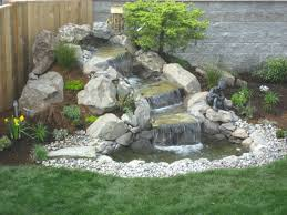 Backyard Waterfall Ideas Waterfall Garden Diy Backyard Pond Kits Lowes Lawratchet Com