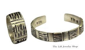 silver bracelet gift images Sterling silver bracelet ring gift set unisex 2 piece matching jpg