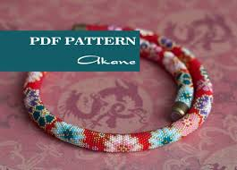 beads crochet necklace images Pdf pattern for beaded crochet necklace seed beads crochet etsy jpg