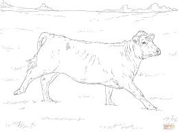running cow coloring page free printable coloring pages