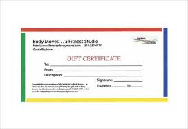 fitness gift certificate templates u2013 6 free word pdf documents