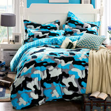 Cheap Bedspreads Sets Camouflage Duvet Cover Blue Bed Sheets Funda Nordica Housse De