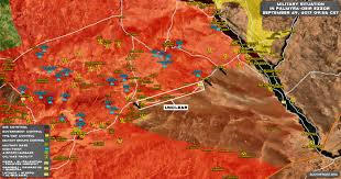 Map Of Al Storming Strategic Government Held Town Of Al Sukhna At Palmyra