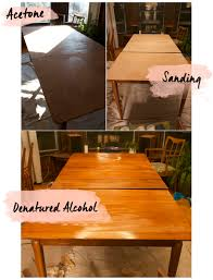 How To Paint A Dining Room Table by Refinishing Vintage Furniture