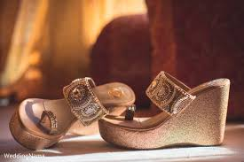 Wedding Shoes India Beautiful Indian Bridal Golden Wedges In Udaipur Rajasthan