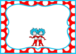 gorgeous dr seuss border party invitation template according