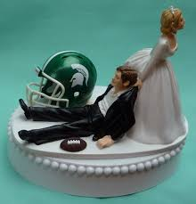 football cake toppers michigan st spartans msu football theme wedding cake
