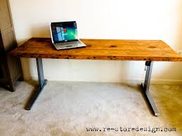 Diy Reclaimed Wood Desk by Ana White Reclaimed Wood Desk Diy Projects
