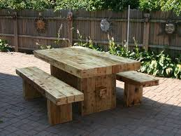 patio table with bench seating home design ideas and pictures