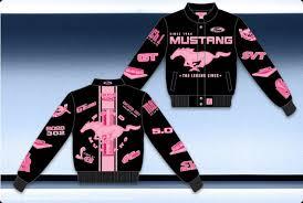 ford mustang jacket black pink mustang jacket ford mustang racing jacket black